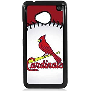 MLB Major League Baseball St. Louis Cardinals Logo HTC One M7 Hard Plastic Black or White case (Black)
