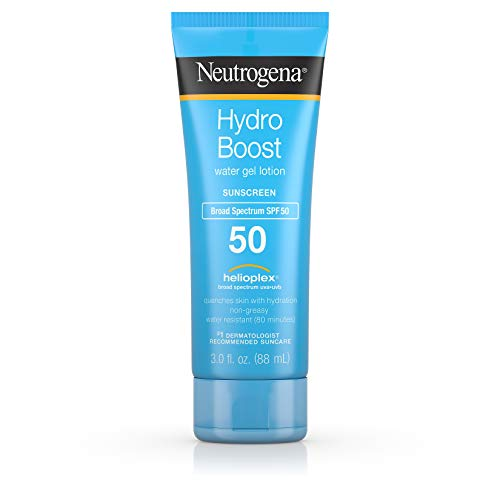 Neutrogena Hydro Boost Water Gel Non-Greasy Moisturizing Sunscreen Lotion with Broad Spectrum SPF 50, Water-Resistant, 3 fl. Oz (Pack of ()