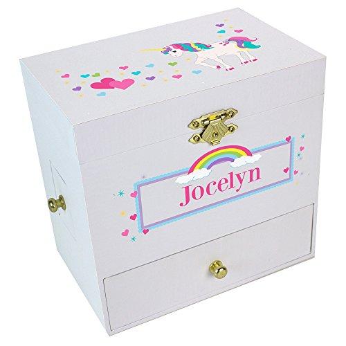 Personalized Unicorn Deluxe Musical Ballerina Jewelry Box