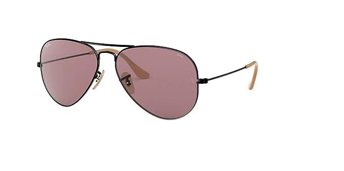 8e4f8910421b Ray-Ban RB3025 AVIATOR EVOLVE 9066Z0 55M Black Violet Sunglasses For Men  For Women