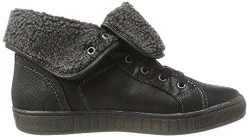 Gerli 613100 Dockers By Sneaker schwarz Donna Collo Nero 41ce307 Alto A 5qUSSt7x