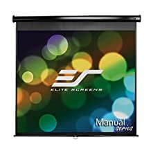 Elite Screens Manual, 85-inch 1:1, Pull Down Projection Manual Projector Screen with Auto Lock, M85UWS1