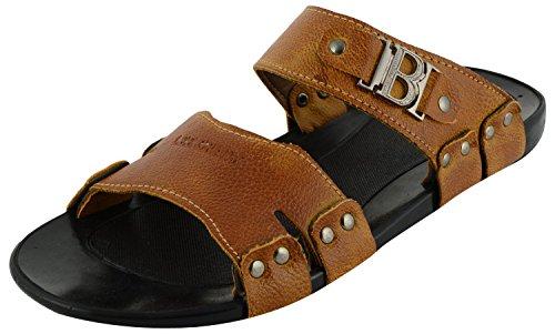 Lee Graim Mens Tan Synthetic Outdoor Sandals - 9 UK