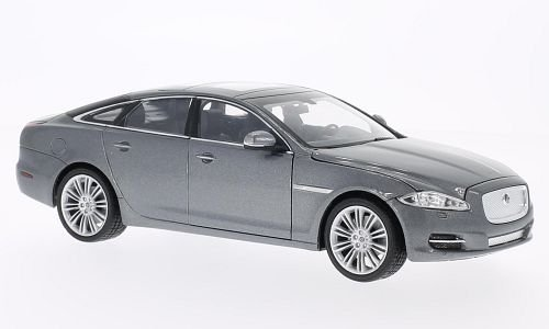 Jaguar XJ, metallic-grey, 2010, Model Car, Ready-made, Welly 1:24