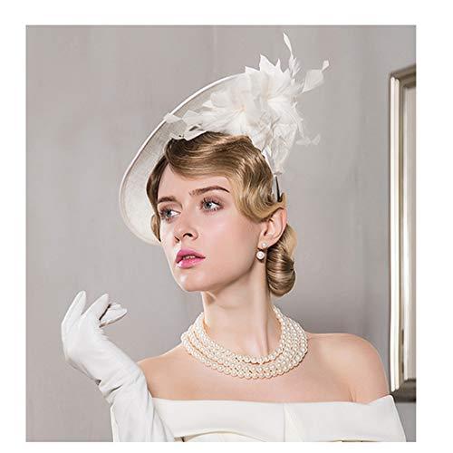 Iglesia Derby Boda Sombrero Formal Blanco Vestido Vendimia La Las Sinamay De Kentucky El Sombreros Señoras Fedora Para wBqxRaZgv