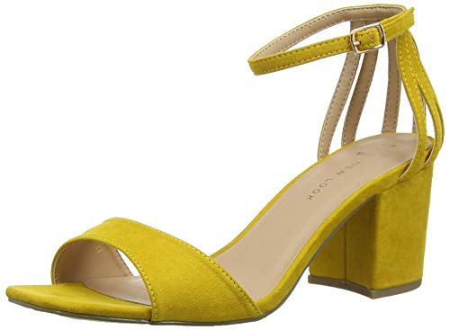 Abierta Punta Con Zapatos Tacón 87 New De Tequila Para Foot Amarillo Mujer Wide Look Yellow dark 0FwwxqS8z
