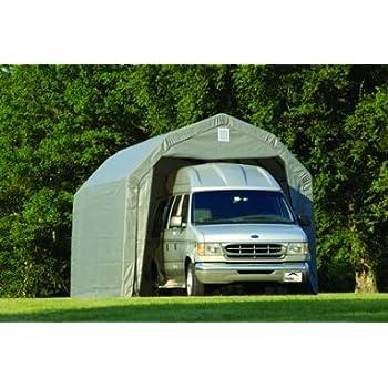 Amazon.com: ShelterLogic 12Ft.W Homestead Barn Style ...