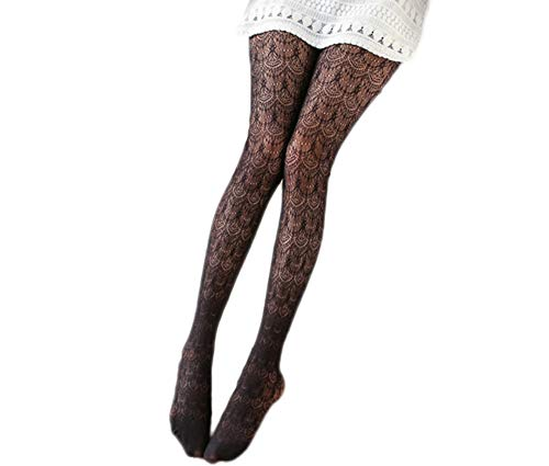 Ealafee Girl's Black Lace Pantyhose Long Sexy Socks Stockings Hollow Out - Lace Pantyhose Up Lace