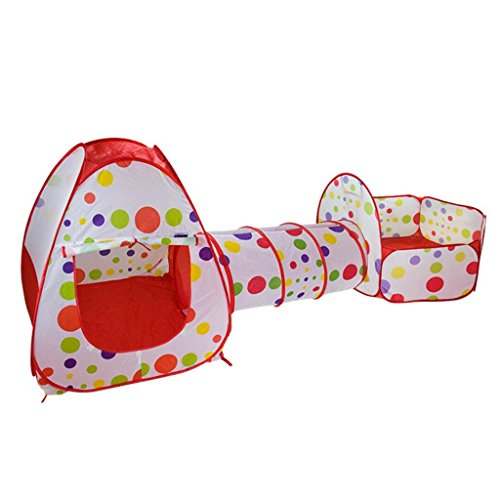 Toyshine 3-in-1 Tunnel Ball Pool Tent Fold-able Outdoor T