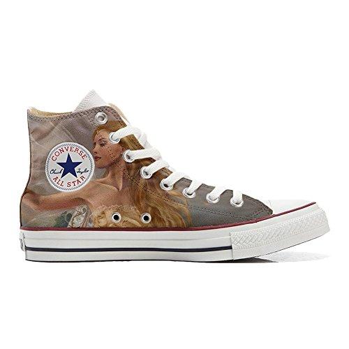 Sneaker Hi Unisex Personnalisé coutume style Imprimés Star Fata Italien artisanal chaussures All produit et Converse X8F14qz