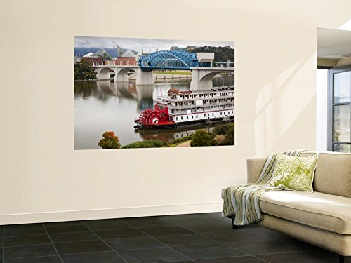 Delta Queen Riverboat, Tennessee River, Chattanooga, Tennessee, USA Wall Mural by Walter Bibikow 48 x 72in - Queen Riverboat