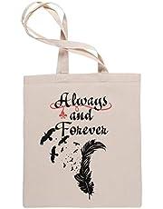 Always And Forever Winkeltassen Tote Beige Shopping Bag