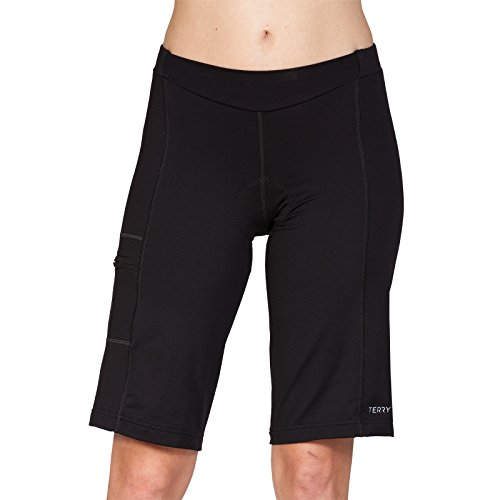Terry Liberty Bike Shorts for Women - Loose-fit Leg Elastic-Free Opening Breathable Moisture Wicking Fabric - Black - X Large