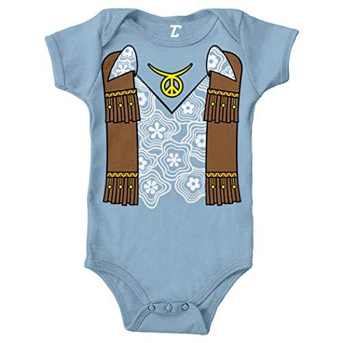 Hippy Costume - Groovy Righteous Cool Bodysuit (Light Blue, Newborn) -