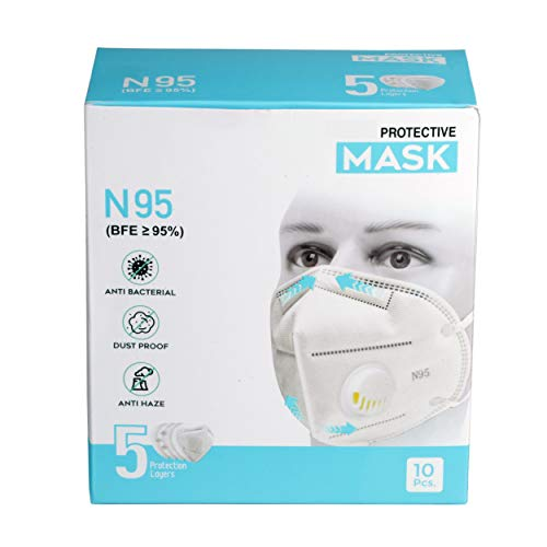 Bebop N95 Face Mask   5 Layered High Filtration Capacity with genuine Meltblown and Hot Air Cotton   Five Layer Reusable…