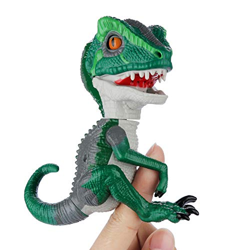 Atoptzqoc Finger Toys with Intelligent Sensor Interactive Collectible Baby Dinosaur Toy for Kids Baby Boys Girls (D)
