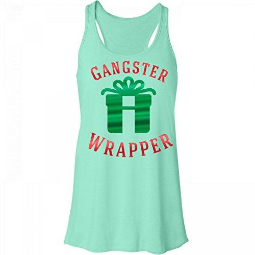 Customized Girl Metallic Gangster Wrapper: Bella Women's Flowy Metallic Racerback Tank