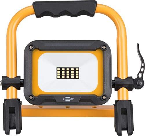 Brennenstuhl Mobiler Akku LED Strahler JARO 1000 MA / LED Baustrahler 10W für außen IP54 (LED Arbeitsleuchte mit 3 Schaltstufen, LED Arbeitsstrahler mit max. 14h Leuchtdauer, 1000lm, 6500K)