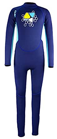 Little Boys Thick 2mm Neoprene Warm Seamless Sun Protective Long Sleeve Winter Swimming Surfing Full Suit 1-2T Blue