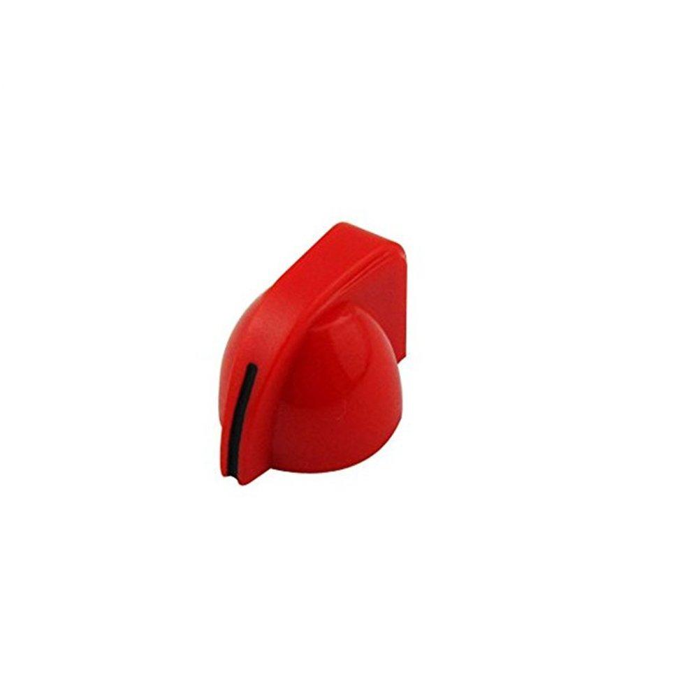 Artibetter 24 Piezas de perillas de Guitarra el/éctrica Botones de perillas de Amplificador de Guitarra para Partes de Guitarra el/éctrica Rojo