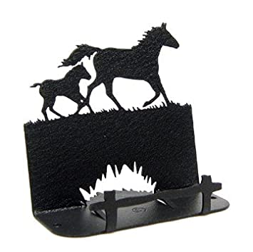Amazon mare foal horse business card holder home kitchen mare foal horse business card holder colourmoves Choice Image
