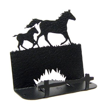 Mare & Foal Horse Business Card Holder