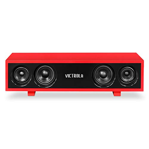 Victrola 30 Watt Bluetooth Hi-Fi Speaker with Glossy Piano Finish, Red