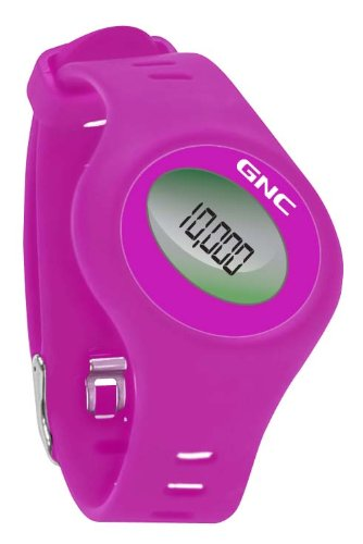 GNC Bluetooth Waist Clip and Watch Band Pedometer, Raspberry by GNC