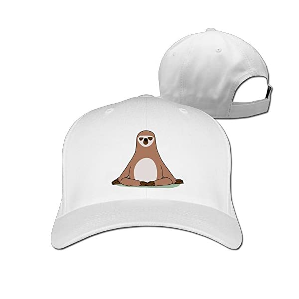 Unisex Snap Sloths Plain Baseball Cap Blank Hat Solid Color -