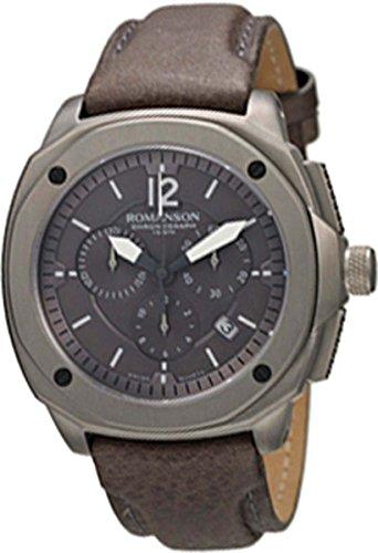 Romanson Men's AL3213HM1DAA7Y Active Titanium Chronograph Analog Display Swiss Quartz Grey Watch