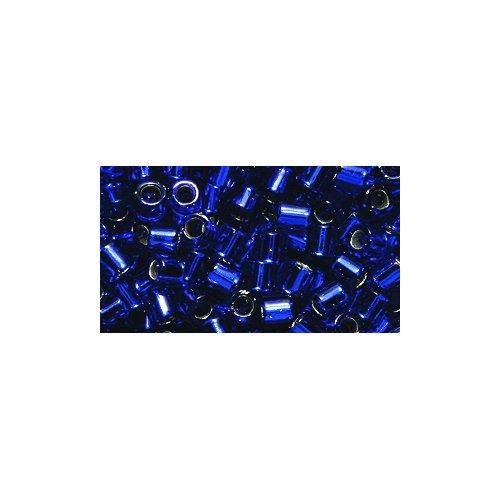 Miyuki Delica Seed Bead 8/0 DBL0047, Silverlined Cobalt, 8-Gram/Pack - Delica Bead Loom