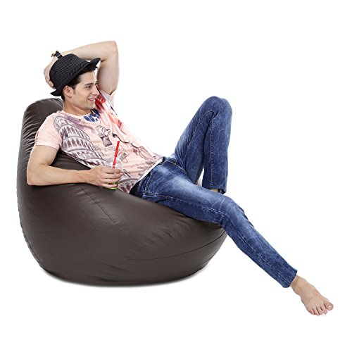 Style Homez Classic Bean Bag XXXL Size Chocolate Brown Color Cover Only