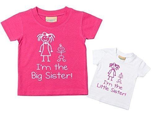 Y 6 Lote hermana camisetas Avec En hermana Conjunto Disponibles camisetas gran Tailles la Inscripciones Soy y os Mois Ni 0 hermanita Petits en Jusqu' Vierta de gran Con de AAZqXFY
