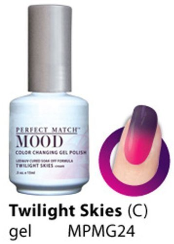 LeChat Perfect Match Mood Gel Nail Polish, Twilight Skies by