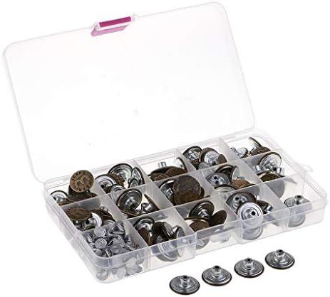 ジーンズボタン 交換用 ジーンズタック 金属ボタン 17-20mm 100個入り