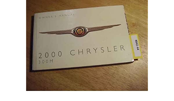 2000 chrysler 300m owners manual chrysler amazon com books rh amazon com 2000 chrysler 300m owners manual 2000 chrysler 300m service manual download