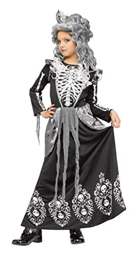 Skeleton Queen Child Costume Black -