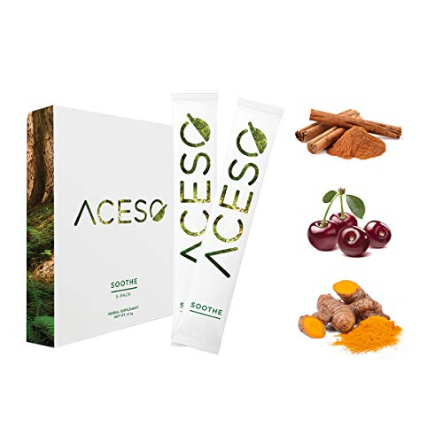 ACESO SOOTHE Herbal Supplement 5-Pack Drink Mix, 50mg Organic Hemp Extract, Ease Everyday Aches and Soreness, 5 single-serving Sachets, 7.5grams/0.27 ounces each