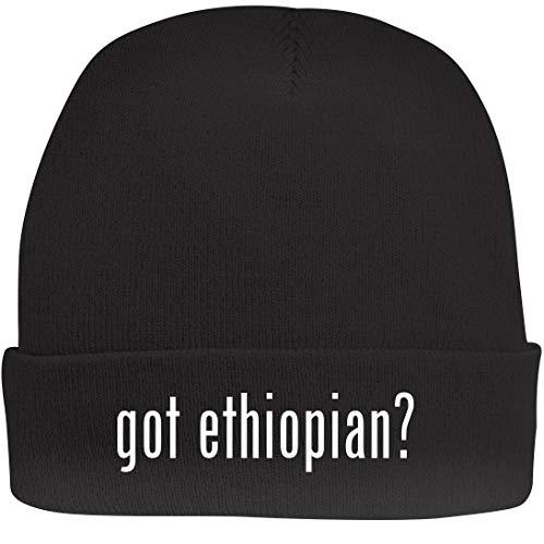Shirt Me Up got Ethiopian? - A Nice Beanie Cap, Black, OSFA