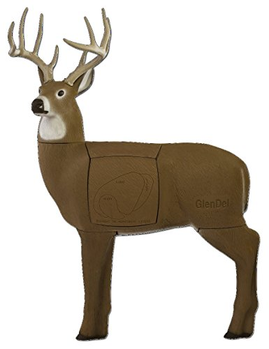 GlenDel Full-Rut Buck 3D Target w/ 4-sided rotating and replaceable core (Archery Target 3d Deer)