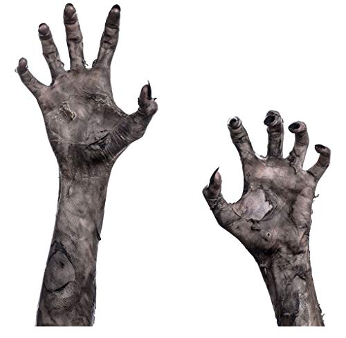 Halloween Horror Window Poster, 3D Creepy Halloween Ghost Hands Murals Zombie Handprint -