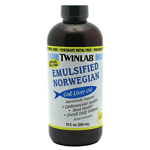 Norwegian Cod Liver Oil - Twinlab Emulsified Norwegian Cod Liver Oil Lemon -- 12 fl oz