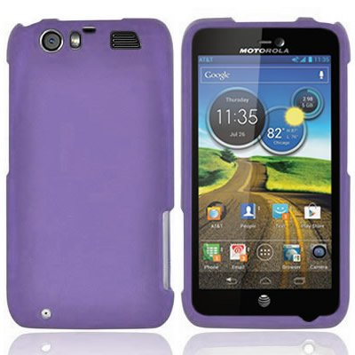 CoverON® Matte Snap-On PURPLE RUBBERIZED Hard Case Cover For MOTOROLA MB886 DINARA / ATRIX 3 ATT With PRY-Triangle Case Removal Tool [WCB395] (Motorola Atrix Cases Low To High)