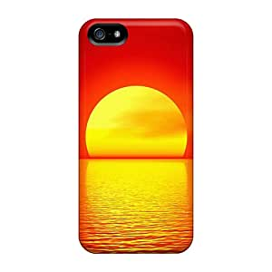 Shockproof/dirt-proof Big Ball Of Sun Covers Cases For Iphone(5/5s)