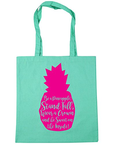a Stand The Gym 42cm x38cm Crown On Wear Inside 10 Be Tote Pineapple and Sweet Beach Mint litres Be HippoWarehouse Shopping Bag Tall A naYYH