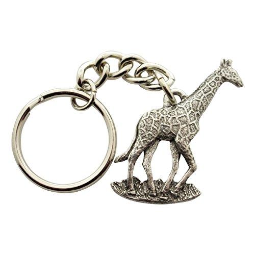 (Sarah's Treats & Treasures Giraffe Keychain ~ Antiqued Pewter ~ Keychain)