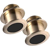 RAYMARINE RAY-T70075 / PAIR of CHIRP Transducers, Depth/Temp, 20° Tilt, MFG# T70075, Narrow beamwidth Broadband CHIRP technology, 40KHz-60KHz and 130KHz-210KHz. Low-profile B164 style bronze housing w/ 20° tilted element.