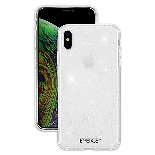 (EMERGE - iPhone XS Max Glitter Case - SHIMMER - Sparkle Effect - Clear)