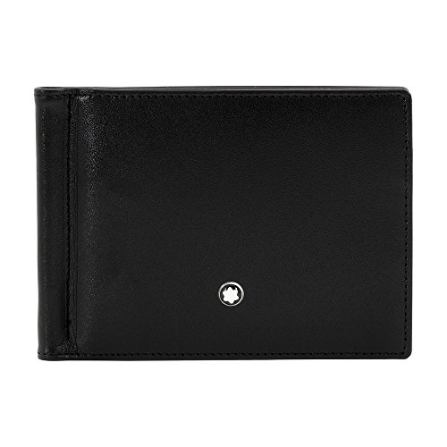 MONTBLANC Men's 6cc Wallet with Money Clip, Black