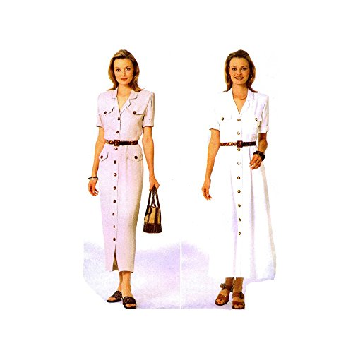 (Butterick 5032 Sewing Pattern Jessica Howard Womens Front Button Dress Size 6 - 8 - 10)